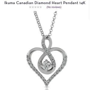 Ben Bridges Diamond Heart Pendant 14k